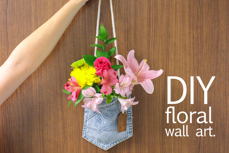 Turn your old jeans into a fresh flower arrangement - Great Lakes ...
